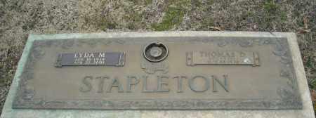 STAPLETON, THOMAS D. - Faulkner County, Arkansas | THOMAS D. STAPLETON - Arkansas Gravestone Photos