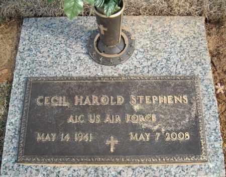 STEPHENS (VETERAN), CECIL HAROLD - Faulkner County, Arkansas | CECIL HAROLD STEPHENS (VETERAN) - Arkansas Gravestone Photos