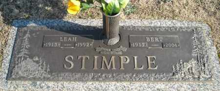 STIMPLE, LEAH - Faulkner County, Arkansas | LEAH STIMPLE - Arkansas Gravestone Photos