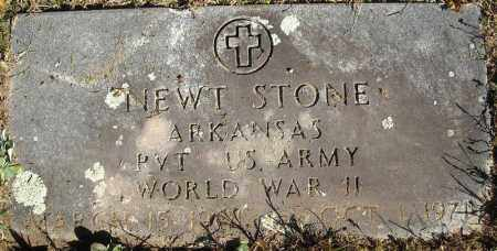 STONE  (VETERAN WWII), NEWT - Faulkner County, Arkansas   NEWT STONE  (VETERAN WWII) - Arkansas Gravestone Photos