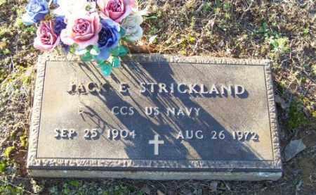 STRICKLAND (VETERAN), JACK E. - Faulkner County, Arkansas | JACK E. STRICKLAND (VETERAN) - Arkansas Gravestone Photos