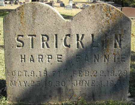 STRICKLIN, HARPE - Faulkner County, Arkansas | HARPE STRICKLIN - Arkansas Gravestone Photos