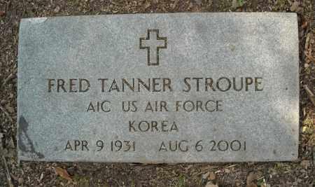 STROUPE  (VETERAN KOR), FRED TANNER - Faulkner County, Arkansas   FRED TANNER STROUPE  (VETERAN KOR) - Arkansas Gravestone Photos