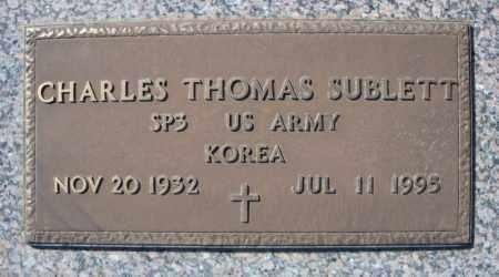 SUBLETT (VETERAN KOR), CHARLES THOMAS - Faulkner County, Arkansas | CHARLES THOMAS SUBLETT (VETERAN KOR) - Arkansas Gravestone Photos