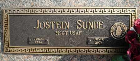SUNDE (VETERAN), JOSTEIN - Faulkner County, Arkansas   JOSTEIN SUNDE (VETERAN) - Arkansas Gravestone Photos
