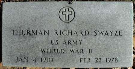 SWAYZE (VETERAN WWII), THURMAN RICHARD - Faulkner County, Arkansas | THURMAN RICHARD SWAYZE (VETERAN WWII) - Arkansas Gravestone Photos