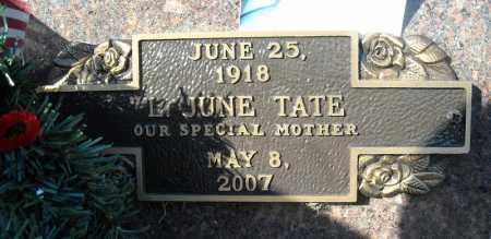 TATE, L. JUNE - Faulkner County, Arkansas   L. JUNE TATE - Arkansas Gravestone Photos