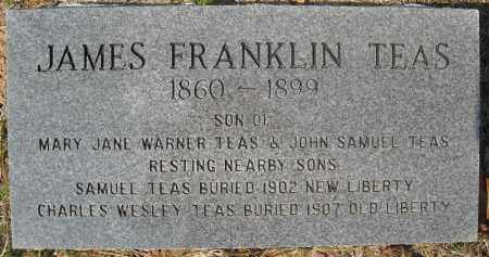 TEAS, JAMES FRANKLIN - Faulkner County, Arkansas | JAMES FRANKLIN TEAS - Arkansas Gravestone Photos