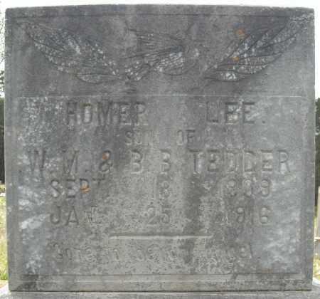 TEDDER, HOMER LEE - Faulkner County, Arkansas | HOMER LEE TEDDER - Arkansas Gravestone Photos