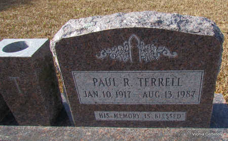 TERRELL, PAUL R (CLOSE UP) - Faulkner County, Arkansas | PAUL R (CLOSE UP) TERRELL - Arkansas Gravestone Photos