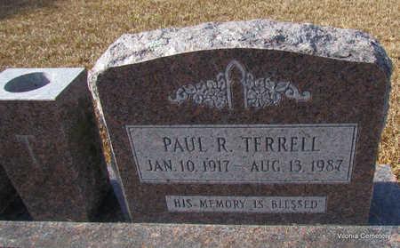 TERRELL, PAUL R (CLOSE UP) - Faulkner County, Arkansas   PAUL R (CLOSE UP) TERRELL - Arkansas Gravestone Photos
