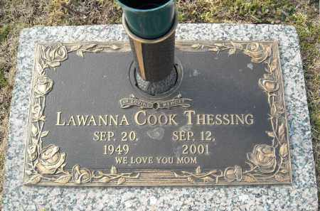 COOK THESSING, LAWANNA - Faulkner County, Arkansas | LAWANNA COOK THESSING - Arkansas Gravestone Photos