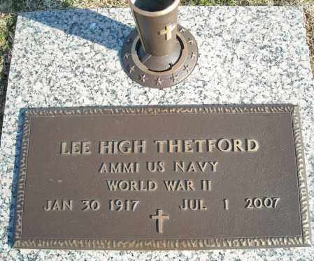 THETFORD (VETERAN WWII), LEE HIGH - Faulkner County, Arkansas   LEE HIGH THETFORD (VETERAN WWII) - Arkansas Gravestone Photos