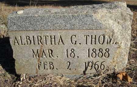 THOMAS, ALBIRTHA G. - Faulkner County, Arkansas | ALBIRTHA G. THOMAS - Arkansas Gravestone Photos