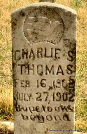 THOMAS, CHARLIE S. - Faulkner County, Arkansas | CHARLIE S. THOMAS - Arkansas Gravestone Photos