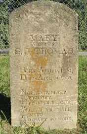THOMAS, MARY - Faulkner County, Arkansas | MARY THOMAS - Arkansas Gravestone Photos