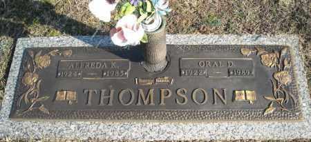 THOMPSON, ORAL D. - Faulkner County, Arkansas | ORAL D. THOMPSON - Arkansas Gravestone Photos