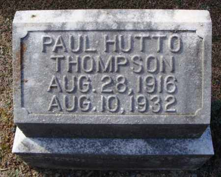 THOMPSON, PAUL HUTTO - Faulkner County, Arkansas | PAUL HUTTO THOMPSON - Arkansas Gravestone Photos