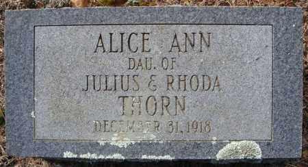 THORN, ALICE ANN - Faulkner County, Arkansas   ALICE ANN THORN - Arkansas Gravestone Photos
