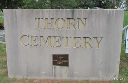 *THORN CEMETERY SIGN,  - Faulkner County, Arkansas |  *THORN CEMETERY SIGN - Arkansas Gravestone Photos