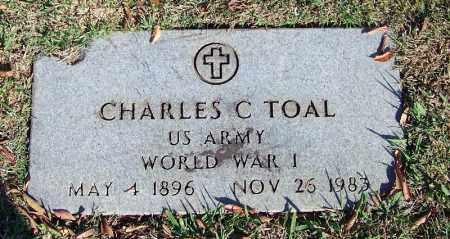 TOAL (VETERAN WWII), CHARLES C - Faulkner County, Arkansas   CHARLES C TOAL (VETERAN WWII) - Arkansas Gravestone Photos