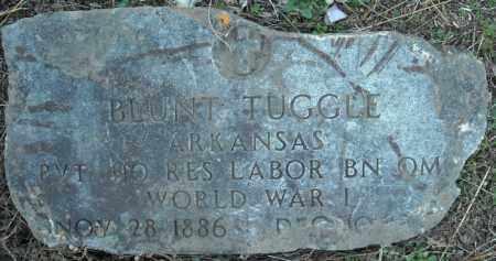 TUGGLE (VETERAN WWI), BLUNT (ORIGINAL STONE) - Faulkner County, Arkansas | BLUNT (ORIGINAL STONE) TUGGLE (VETERAN WWI) - Arkansas Gravestone Photos