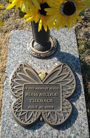TURNAGE, BLISS NICOLE - Faulkner County, Arkansas | BLISS NICOLE TURNAGE - Arkansas Gravestone Photos