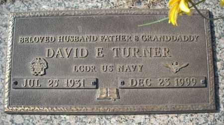 TURNER (VETERAN), DAVID E - Faulkner County, Arkansas   DAVID E TURNER (VETERAN) - Arkansas Gravestone Photos