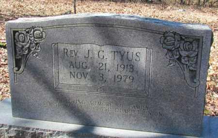 TYUS REV, J G - Faulkner County, Arkansas   J G TYUS REV - Arkansas Gravestone Photos