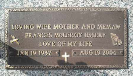 USSERY, FRANCES MCLEROY - Faulkner County, Arkansas | FRANCES MCLEROY USSERY - Arkansas Gravestone Photos
