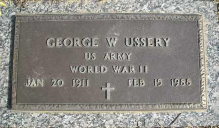USSERY (VETERAN WWII), GEORGE W - Faulkner County, Arkansas | GEORGE W USSERY (VETERAN WWII) - Arkansas Gravestone Photos