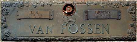 VAN FOSSEN, RUBY P. - Faulkner County, Arkansas | RUBY P. VAN FOSSEN - Arkansas Gravestone Photos