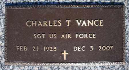 VANCE (VETERAN), CHARLES T - Faulkner County, Arkansas   CHARLES T VANCE (VETERAN) - Arkansas Gravestone Photos