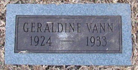 VANN, GERALDINE - Faulkner County, Arkansas | GERALDINE VANN - Arkansas Gravestone Photos