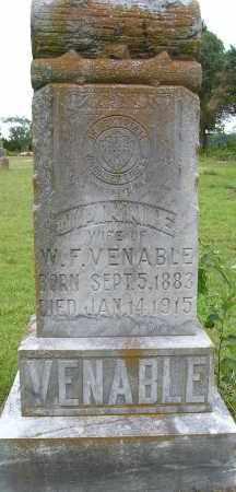 VENABLE, JANNIE - Faulkner County, Arkansas | JANNIE VENABLE - Arkansas Gravestone Photos