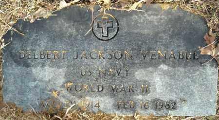 VENABLE (VETERAN WWII), DELBERT JACKSON - Faulkner County, Arkansas | DELBERT JACKSON VENABLE (VETERAN WWII) - Arkansas Gravestone Photos