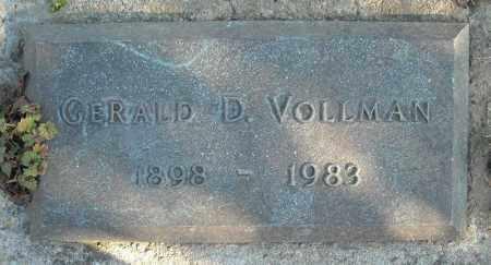 VOLLMAN, GERALD D. - Faulkner County, Arkansas   GERALD D. VOLLMAN - Arkansas Gravestone Photos