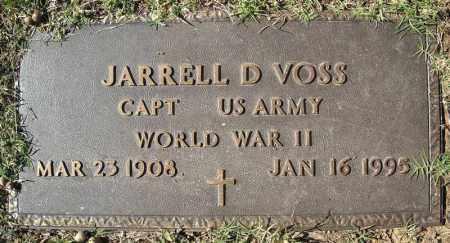 VOSS (VETERAN WWII), JARRELL D - Faulkner County, Arkansas   JARRELL D VOSS (VETERAN WWII) - Arkansas Gravestone Photos