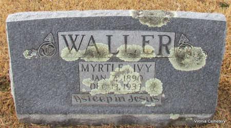 WALLER, MYRTLE IVY - Faulkner County, Arkansas | MYRTLE IVY WALLER - Arkansas Gravestone Photos