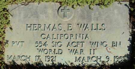 WALLS (VETERAN WWII), HERMAS E - Faulkner County, Arkansas | HERMAS E WALLS (VETERAN WWII) - Arkansas Gravestone Photos