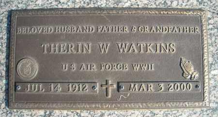 WATKINS (VETERAN WWII), THERIN W - Faulkner County, Arkansas | THERIN W WATKINS (VETERAN WWII) - Arkansas Gravestone Photos