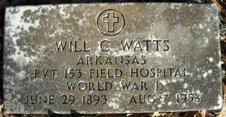 WATTS  (VETERAN WWI), WILL C - Faulkner County, Arkansas   WILL C WATTS  (VETERAN WWI) - Arkansas Gravestone Photos
