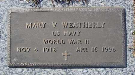 WEATHERLY (VETERAN WWII), MARY V - Faulkner County, Arkansas | MARY V WEATHERLY (VETERAN WWII) - Arkansas Gravestone Photos
