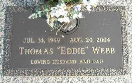 "WEBB, THOMAS ""EDDIE"" - Faulkner County, Arkansas | THOMAS ""EDDIE"" WEBB - Arkansas Gravestone Photos"