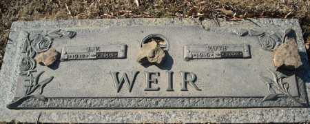 WEIR, L.V. - Faulkner County, Arkansas   L.V. WEIR - Arkansas Gravestone Photos