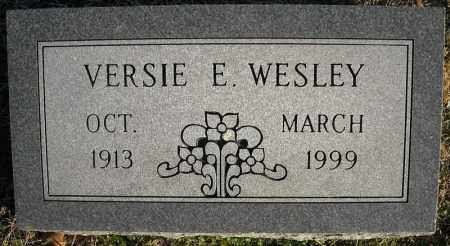 WESLEY, VERSIE E. - Faulkner County, Arkansas | VERSIE E. WESLEY - Arkansas Gravestone Photos