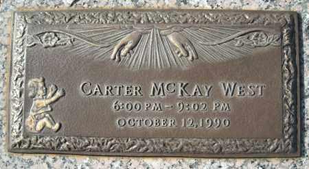 WEST, CARTER MCKAY - Faulkner County, Arkansas | CARTER MCKAY WEST - Arkansas Gravestone Photos