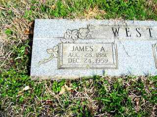 WEST, JAMES A. (CLOSEUP) - Faulkner County, Arkansas   JAMES A. (CLOSEUP) WEST - Arkansas Gravestone Photos