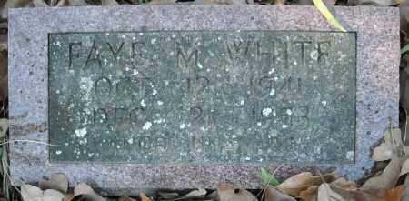 WHITE, FAYE M. - Faulkner County, Arkansas   FAYE M. WHITE - Arkansas Gravestone Photos