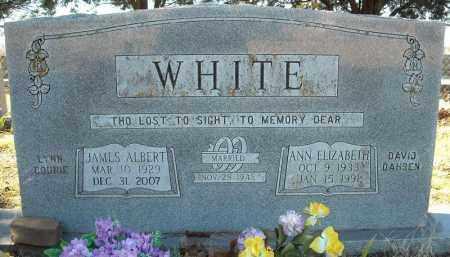 WHITE, ANN ELIZABETH - Faulkner County, Arkansas   ANN ELIZABETH WHITE - Arkansas Gravestone Photos